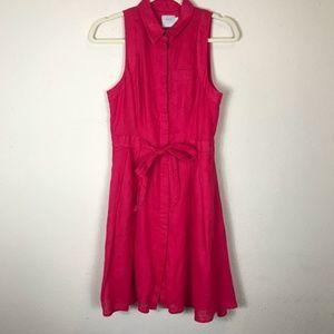 3a6583ff5fd Anthropologie Dresses - HD In Paris 4 Pink Printemps Linen Shirtdress